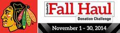 The Fall Haul Donation Challenge in Illinois runs November 1-30!