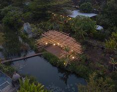 MIA design studio builds its 'straw pavilion' of atmospheric blurred timber Pavilion Design, Pavilion Architecture, Architecture Office, Landscape Architecture, Landscape Design, Bamboo Structure, Organic Structure, Location Plan, Timber Battens