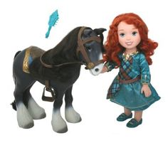Amazon.com: My First Disney Princess Brave Merida with Angus Playset: Toys & Games