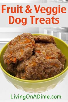 √    Fruit and Vegetable Dog Treats Recipe