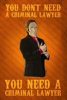 (I really want to own this one!!! -N)  The end is near--the final season of Breaking Bad is fast approaching. Ease the pain with the 3rd print in Scott Johnson's Breaking Bad series featuring the one and only Saul Goodman!  Criminal Lawyer is available in 12x18 and 20x30 sizes, with digtal and hand signing options.