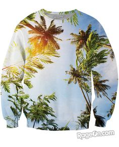 Palm Trees Crewneck Sweatshirt - RageOn! - The World's Largest All-Over-Print Online Store