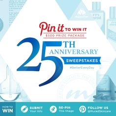For our 25th Anniversary, we're giving away a $500 prize package in our Pinterest Giveaway! Click through to enter. #bettereveryday #sweepstakes
