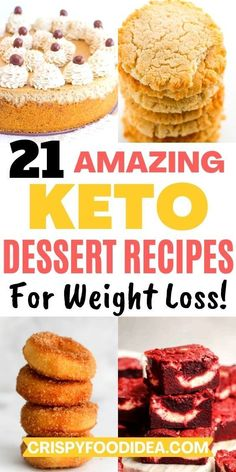 Easy Sweets, Keto Dessert Easy, Healthy Dessert Recipes, Sweets Recipes, Vegan Desserts, Low Carb Recipes, Sugar Free Cookies, Sugar Free Desserts, Ketogenic Desserts
