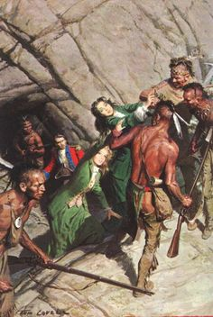 "From 'The Last of the Mohicans' Artwork by Tom Lovell ~ ""But though the beast of game The privilege of chase may claim; Though space and law the stag we lend Ere hound we slip, or bow we bend; Whoever recked, where, how, or when The prowling fox was trapped or slain?"" --Lady of the Lake."