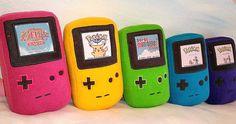GameBoy Color Plushies #gameboy #plush #plushies #kawaii #retro #retrogaming #nintendo #pillow #pillows #gameboycolor #pokemon #zelda #legendofzelda #retro #shutupandtakemyyen #merch #merchandise