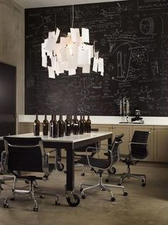 St. Helena Private Winery. (Thinking of doing a full wall black board like that in my current kitchen.)