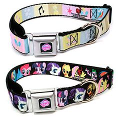 ThinkGeek :: MLP Dog Collar I want a pet doggie so I can get a cute ponii collar for it.