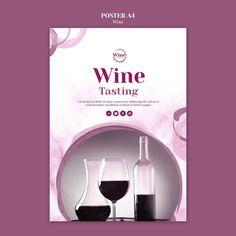 Plantilla de volante para cata de vinos | Free Psd #Freepik #freepsd #flyer Wine Tasting, Lorem Ipsum, Bamboo, Poster, Free, Flyer Template, Stencil Designs, Business Marketing, Posters