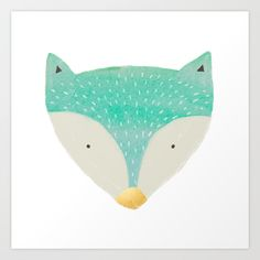 Buy emerald fox with gold nose by Sweet Reverie as a high quality Art Print. Worldwide shipping available at Society6.com. Just one of millions of products available.