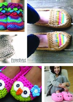 There is nothing better than cozy, fun slippers on a cold winter night. Making your own pair is very simple when using these beginner crochet patterns.