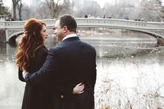 Lauren & Russ Bow Bridge Elopement Central Park Weddings, Cold Day, Bridge, Bows, Couple Photos, Fashion, Couple Shots, Moda, Bro