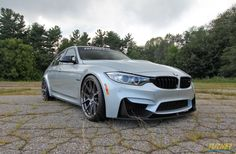The team at Turner Motorsport equipped this new Silverstone BMW F80 M3 with H&R Sport springs, Turner 60HP performance module, aFe intake kit, Borla exhaust, and 20x9.5/20x11 Forgeline 1pc forged monoblock GA1R Deep Cap wheels finished in Transparent Smoke and wrapped in Michelin Pilot Super Sport tires! See more at: http://www.forgeline.com/customer_gallery_view.php?cvk=1455 #Forgeline #forged #monoblock #GA1R #notjustanotherprettywheel #madeinUSA #BMW #F80 #M3