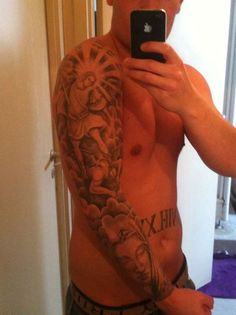 """Might be a good """"balance"""" or """"weight"""" for me. as in ink vs skin showing. Not what I'd want drawn though. Car Tattoos, Love Tattoos, Picture Tattoos, I Tattoo, Heaven Tattoos, Christian Tattoos, Religious Tattoos, Picture Design, Tatting"""