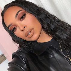 first date makeup Cute Eye Makeup, Full Face Makeup, Gorgeous Makeup, Makeup Looks, Flawless Makeup, Beauty Makeup, Hair Makeup, Hair Beauty, Black Girl Makeup