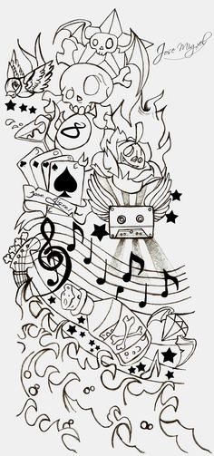Tattoo New School By Ripskool Digital Art Drawings Illustrations