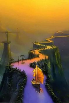 This is an illustration by Thomas Thiemeyer for a novel, The Road to Samarkand. It's on my list for fantasy travel destinations to visit :)