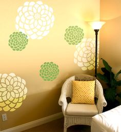 Wall Stencil Geometric Pattern Wall Room Decor Made by OMG