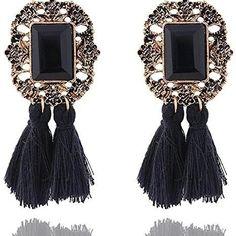 #earrings #earringlove #tasselearrings #tassels Tassel Earrings, Drop Earrings, Tassels, Jewelry, Fashion, Moda, Jewlery, Jewerly, Fashion Styles