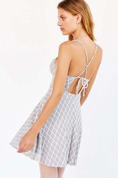 Kimchi Blue Diamond Lace Skater Dress - Urban Outfitters