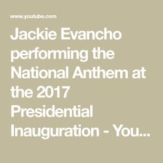Jackie Evancho performing the National Anthem at the 2017 Presidential Inauguration - YouTube