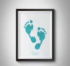 FOOTPRINT personalize  with name - date - place - weight - length - time - and color of the print  Perfect gift for babies, baptism gift, baby shower, newborn, name print, personalized  moldvarp design www.moldvarpdesign.no