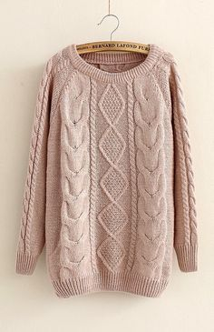 Casual Cabled Pullover Sweaters