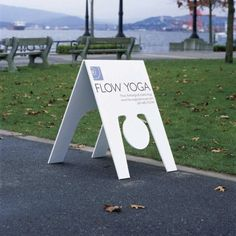 This is an awesome yoga sign! Laura, Who knows you may need one of these.