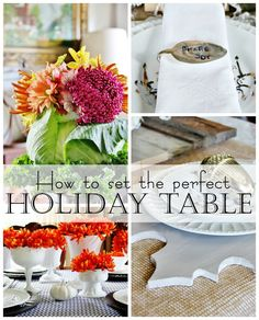 Simple ideas for setting a fun holiday table! I think my favorite is the embossed velvet runner. Easy and fun ideas you can create in an afternoon!