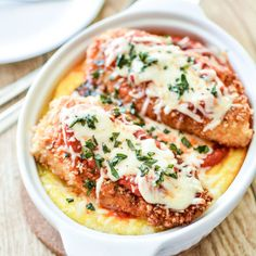 Baked Polenta with Classic Chicken Parmesan - WomansDay.com