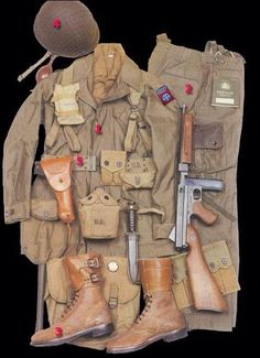 WWII 82nd Paratrooper uniform.                                                                                                                                                                                 More