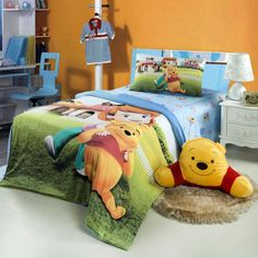 Winnie And Debbie Green Disney Bedding Bedding Decor, Bedding Sets, Disney Bedding, Kids Rugs, Make It Yourself, Nice, Green, Home Decor, Decoration Home