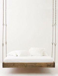 pinterest DIY  hanging beds | Barnwood Hanging Bed: Remodelista
