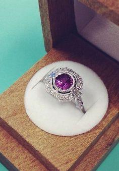 Sapphire Ostara Diamond Ring