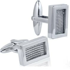 Mens Classic Mesh Patterned Stainless Steel Cufflinks Oxford Ivy. $12.95. Stainless Steel. Velvet Pouch