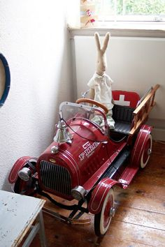 Maileg Bunny (omg that fire truck)