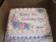 Pastel Rose Qtr Sheet Cake on Cake Central
