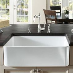 "Buy the Blanco 441699 Biscuit Direct. Shop for the Blanco 441699 Biscuit Cerana 33"" Single Basin Farmhouse Style Fireclay Kitchen Sink and save."