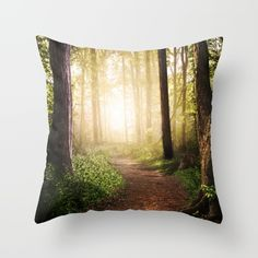 Forest Path throw pillows by Tjc555