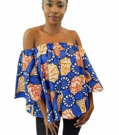 c97f83cd965d7 African Off Shoulder Top Ankara Crop Top