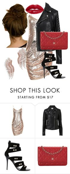 """SATURDAY NIGHT"" by elen25 ❤ liked on Polyvore featuring Witchery, Giuseppe Zanotti, Chanel and Mignonne Gavigan"