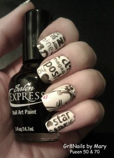 nail stamping with Pueen plates