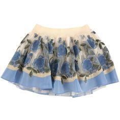 Embroidered tulle skirt MISS BLUMARINE