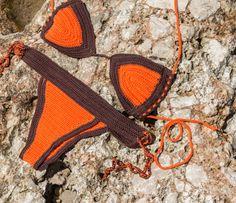 Crochet bikini Sports bikini Woman swimwear crochet by Fayolini