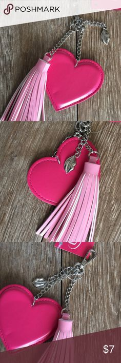 NWT Bag Tag/Charm 💕 NWT Ulta Brand Bag Tag/Charm. Silver tone metal with small metal 💋dangle charm in addition to the larger Pink Heart ❤️ & Pink Tassel. Too cute & would be a great stocking stuffer🎄! ✅Price firm unless bundled!✅ Ulta Accessories