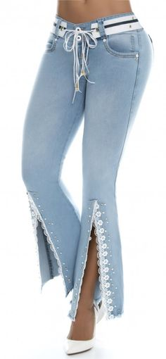 bota campana jeans levanta cola