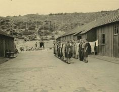 Female prisoners in concentration camp Schoorl, The Netherlands on roll call.