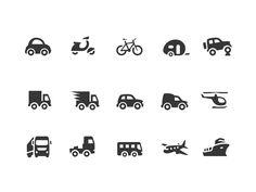 Transportation Icons | Pixotico Custom Icons, Information Design, Transportation, Design Inspiration, Pictogram, Layout Inspiration, Infographic