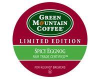 Big Cat Coffees Green Mountain Coffee - Fair Trade Spicy Eggnog K-Cups