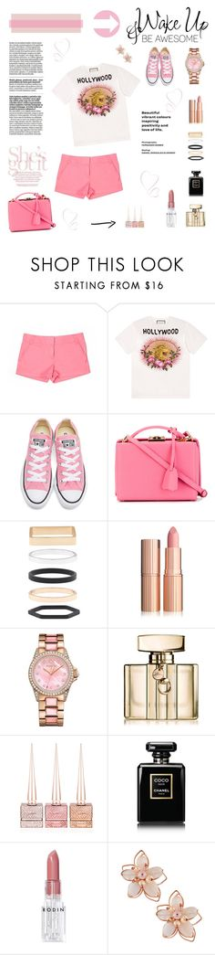 """Wake Up & Be Awesome"" by joannahdawn ❤ liked on Polyvore featuring J.Crew, Gucci, Converse, Mark Cross, Accessorize, Juicy Couture, WALL, Christian Louboutin, Chanel and Rodin"